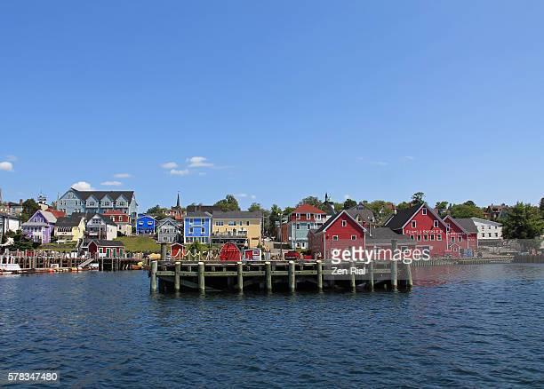 Lunenburg, Nova Scotia in Canada - Harbor front