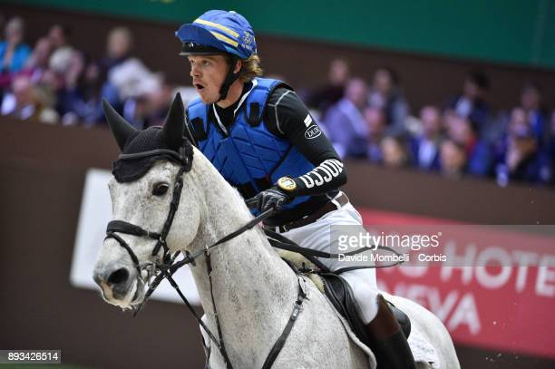 Lunwig SVENNERSTAL of Sweden riding El Kazir S during the Cross Indoor sponsored by Tribune de Genève Rolex Grand Slam Geneva 2017