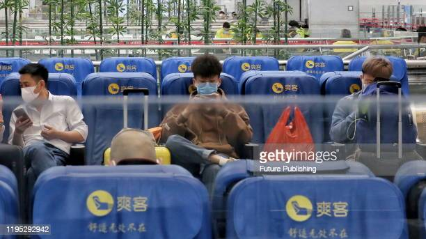 Luohu railway station, affected by the new coronavirus pneumonia, has significantly reduced the number of passengers, Shenzhen City, Guangdong...