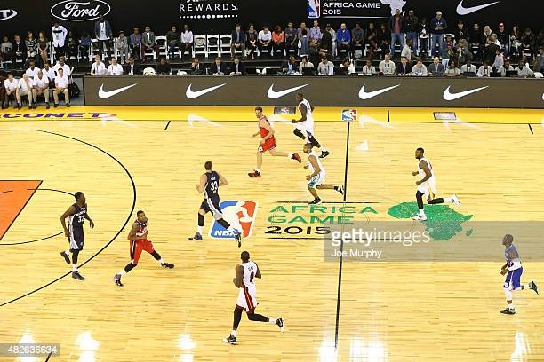 Luol Deng of Team Africa runs the fast break against Team World during the NBA Africa Game 2015 as part of Basketball Without Boarders on August 1,...