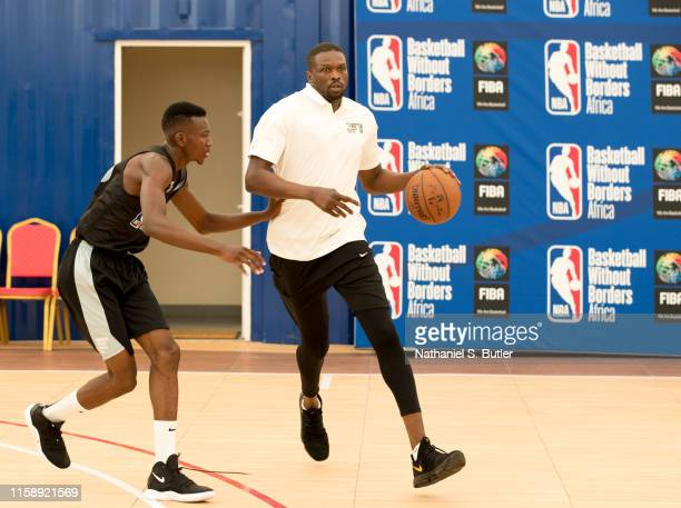 Luol Deng participates during a NBA Academy Africa clinic on July 28 2019 in Saly Senegal NOTE TO USER User expressly acknowledges and agrees that by...