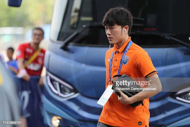 Luong Xuan Truong of Buriram United arrives at the stadium during the AFC Champions League Group G match between Buriram United and Urawa Red...