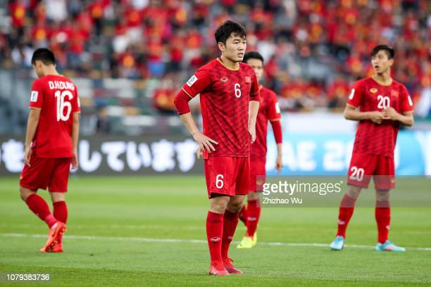 Luong Xuan Truong of Vietnam in action during the AFC Asian Cup Group D match between Iraq and Vietnam at Zayed Sports City Stadium on January 8 2019...