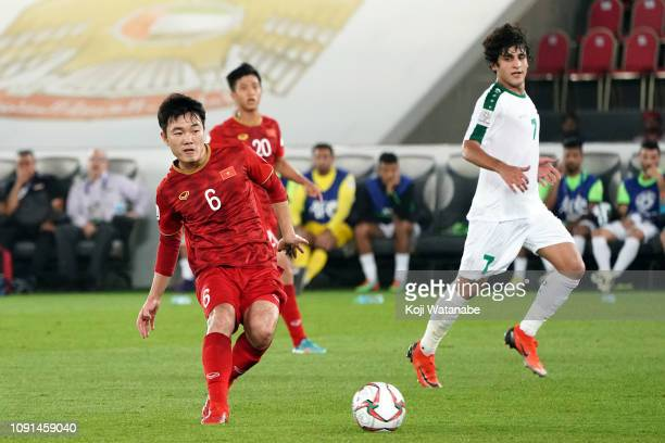 Luong Xuan Truong of Vietnam in action during the AFC Asian Cup Group D match between Iraq and Vietnam at Zayed Sports City Stadium on January 08...