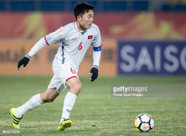 Luong Xuan Truong of Vietnam in action during the AFC U23 Championship China 2018 Group D match between South Korea and Vietnam at Kunshan Sports...