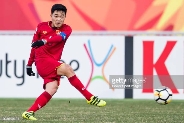 Luong Xuan Truong of Vietnam in action during the AFC U23 Championship China 2018 Group D match between Vietnam and Australia at Kunshan Sports...