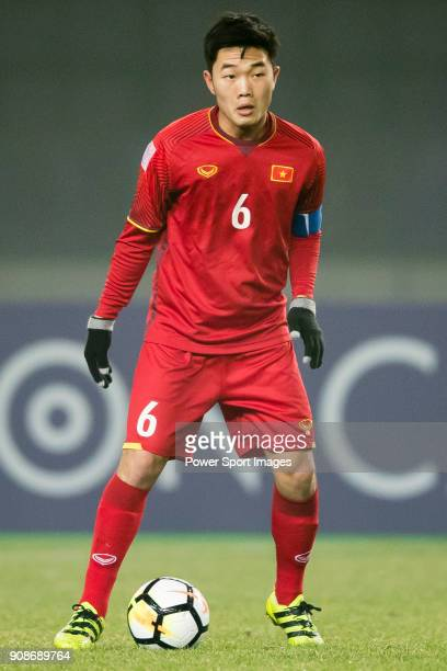 Luong Xuan Truong of Vietnam in action during the AFC U23 Championship China 2018 Quarterfinals match between Iraq and Vietnam at Changshu Stadium on...