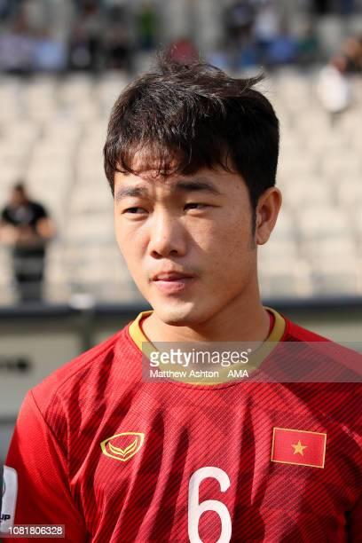 Luong Xuan Truong of Vietnam looks on prior to the AFC Asian Cup Group D match between Vietnam and Iran at Al Nahyan Stadium on January 12 2019 in...