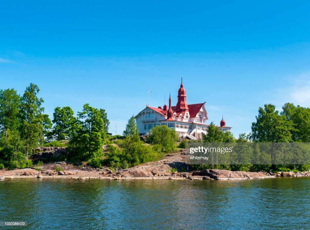 Luoto island in Helsinki harbour : Stock Photo