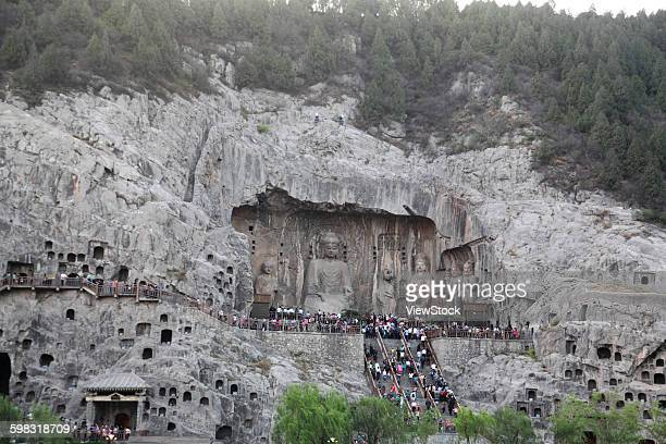 luoyang longmen grottoes, henan province - henan province stock photos and pictures