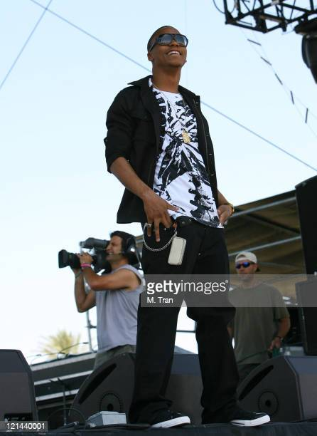 Lupe Fiasco during Coachella Valley Music and Arts Festival Day Three Lupe Fiasco at Empire Polo Field in Indio California United States