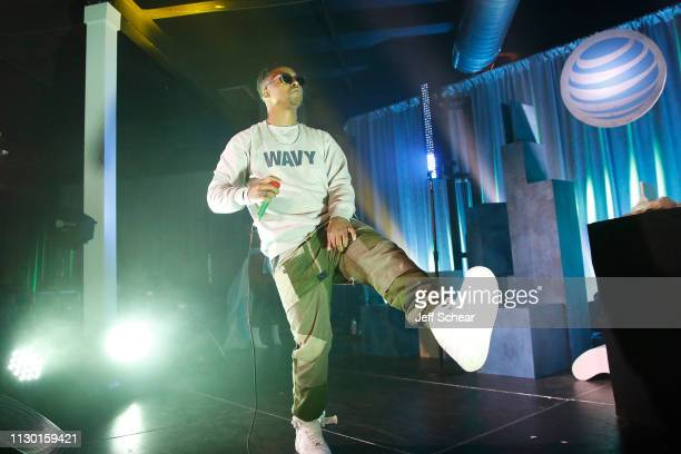 Lupe Fiasco performs at ATT's Day at Revel Market in Chicago IL on March 12 2019 in Chicago Illinois
