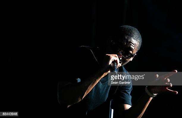 Lupe Fiasco performs during the 2008 Voodoo Experience at City Park on October 26 2008 in New Orleans