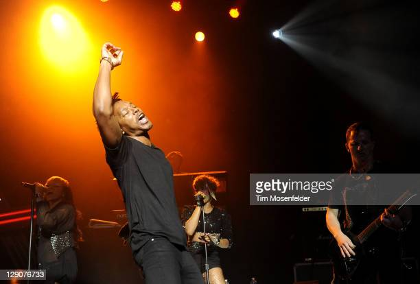 Lupe Fiasco performs in support of his Lasers release at The Fox Theater on October 11 2011 in Oakland California
