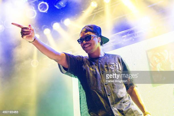 Lupe Fiasco performs onstage at the Tetsuo and Youth Preview Tour at House Of Blues on November 16 2013 in Anaheim California