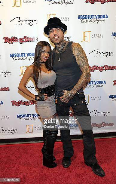 Lupe Fuentes and Evan Seinfeld arrive at Jet at The Mirage Hotel and Casino on October 1 2010 in Las Vegas Nevada