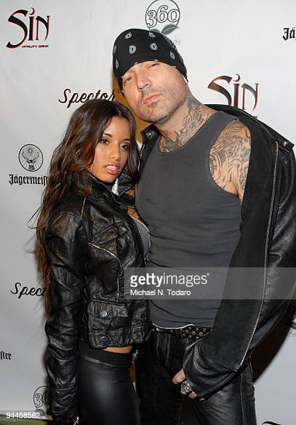 Lupe Fuentes and Evan Seinfeld attend Inked Magazine's Holiday Bash for a Cause at Crash Mansion on December 14 2009 in New York City