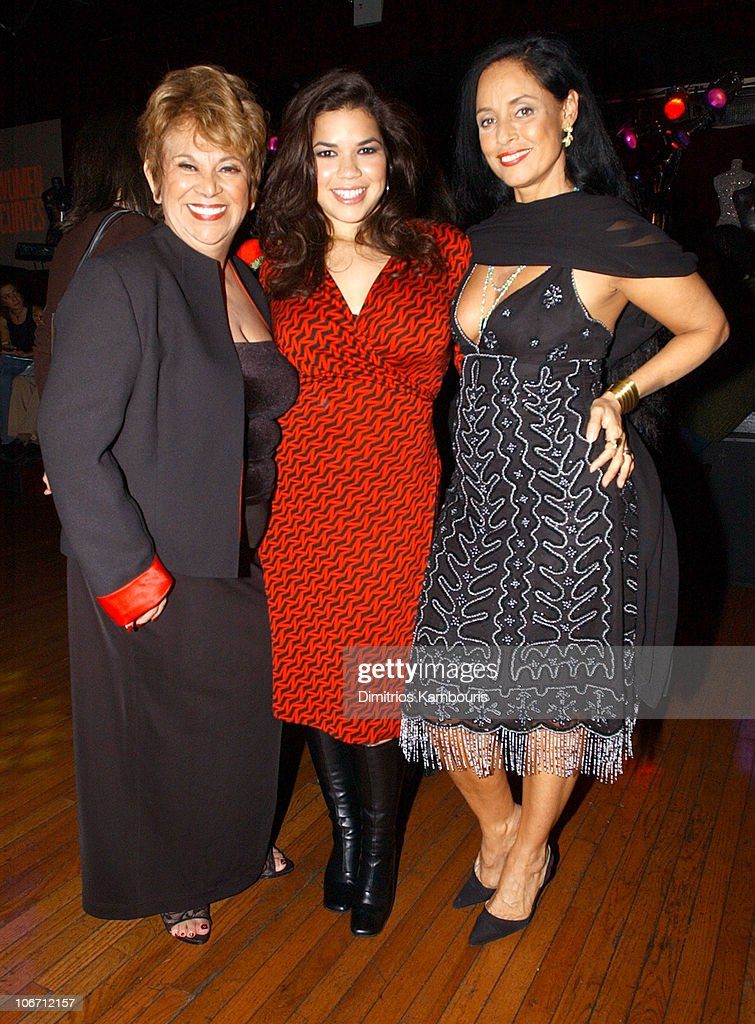 Lupe Ontiveros, America Ferrera and Sonia Braga during HBO Films/Newmarket Films 'Real Women Have Curves' Premiere - After-Party - New York at B.B. King's Blues Club and Grill in New York, New York, United States.