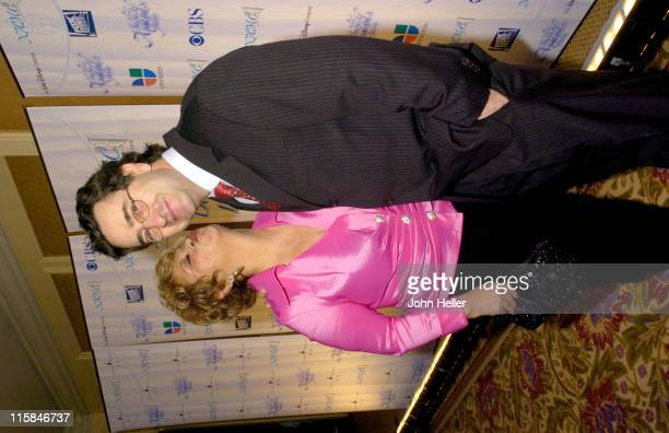 Lupe Ontiveros and Jeffrey Valdez during 2005 Impact Awards Gala at Bevely Wilshire in Beverly Hills California United States