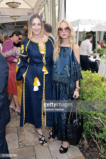Lupe Puerta and Rachel Zoe attend NETAPORTER Celebrates Women Behind The Lens at Chateau Marmont on February 26 2016 in Los Angeles California