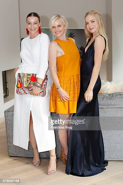 Lupe Puerta Barbara Sturm and Charly Sturm attend the 'Dr Barbara Sturm NetAPorter' Dinner Party on July 21 2016 in Munich Germany