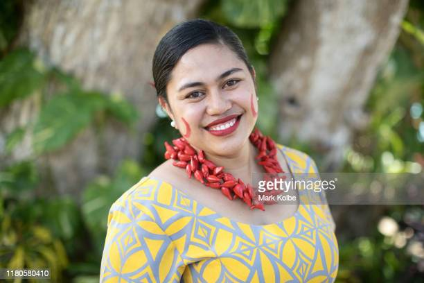 Lupeoletalalelei Tipi poses after performing at the Sheraton Samoa Beach Resort before departing on a Royal Australian Air Force flight to Sydney...