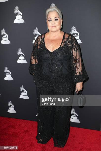 Lupita D'Alessio speaks attends the Special Awards Presentation during the 20th annual Latin GRAMMY Awards at the Waldorf Astoria Las Vegas on...