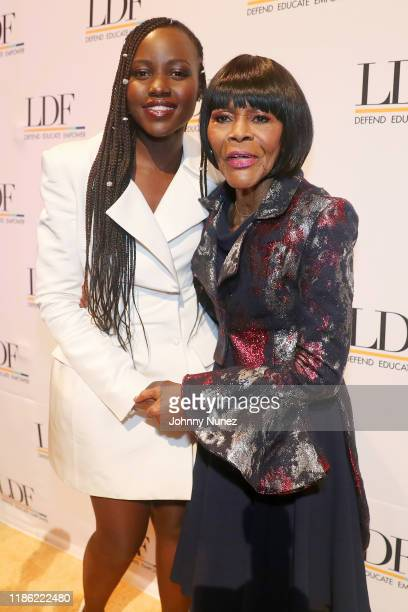 Lupita Nyong'o and Cicely Tyson attend the NAACP LDF 33rd National Equal Justice Awards Dinner at Cipriani 42nd Street on November 07, 2019 in New...