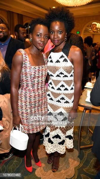 Lupita Nyong'o and Danai Gurira attend The BAFTA Los Angeles Tea Party at Four Seasons Hotel Los Angeles at Beverly Hills on January 5 2019 in Los...