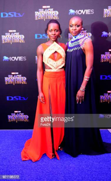 Lupita Nyongo and Danai Gurira during the Black Panther movie premiere at Montecasino on February 16 2018 in Fourways South Africa Your culture in...