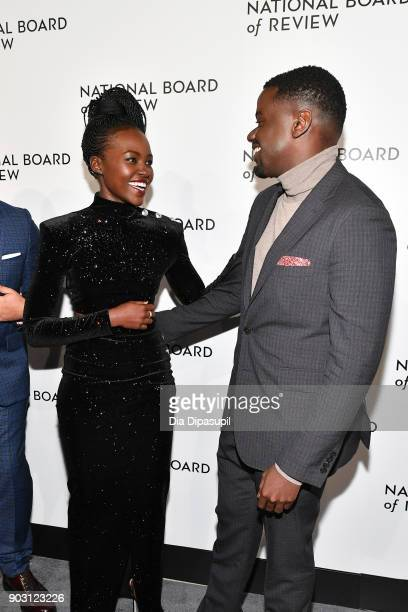 Lupita Nyong'o and Daniel Kaluuya attend the 2018 National Board of Review Awards Gala at Cipriani 42nd Street on January 9 2018 in New York City