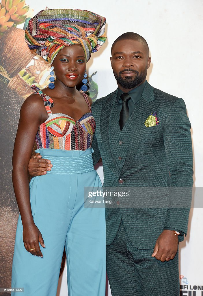 Lupita Nyong'o and David Oyelowo attend the 'Queen Of Katwe' - Virgin Atlantic Gala screening during the 60th BFI London Film Festival at Odeon Leicester Square on October 9, 2016 in London, England.
