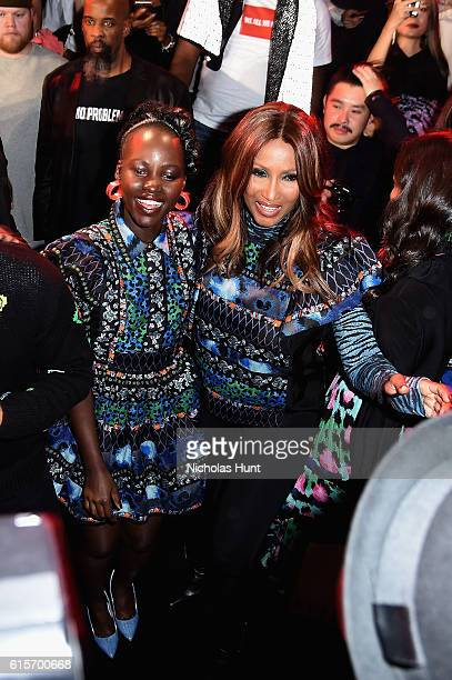 Lupita Nyong'o and Iman attend KENZO x HM Launch Event Directed By JeanPaul Goude' at Pier 36 on October 19 2016 in New York City