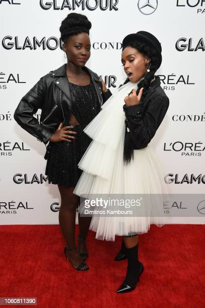 Lupita Nyong'o and Janelle Monae pose backstage at the 2018 Glamour Women Of The Year Awards Women Rise on November 12 2018 in New York City