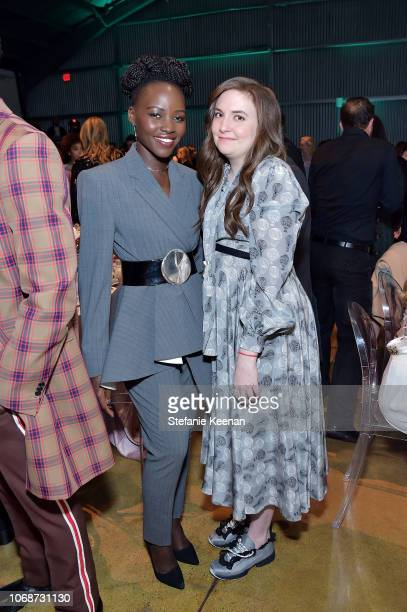 Lupita Nyong'o and Lena Dunham attend The Hollywood Reporter's Power 100 Women In Entertainment at Milk Studios on December 5 2018 in Los Angeles...