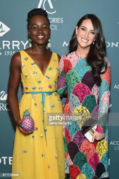 Lupita Nyong'o and Micaela Erlanger attend the 22nd Annual Accessories Council ACE Awards at Cipriani 42nd Street on June 11 2018 in New York City