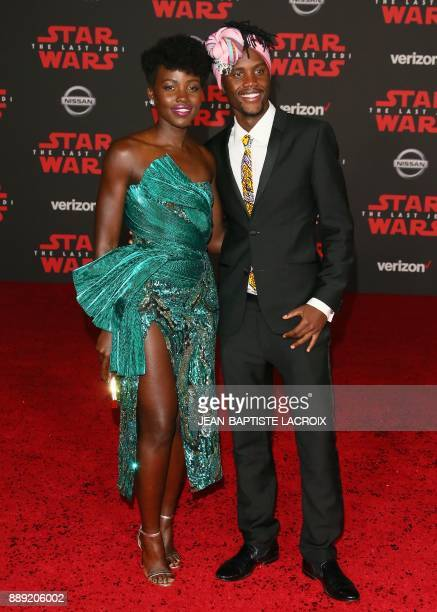 Lupita Nyong'o and Peter Nyong'o arrive for the premiere of Disney Pictures and Lucasfilm's 'Star Wars The Last Jedi' at The Shrine Auditorium in Los...