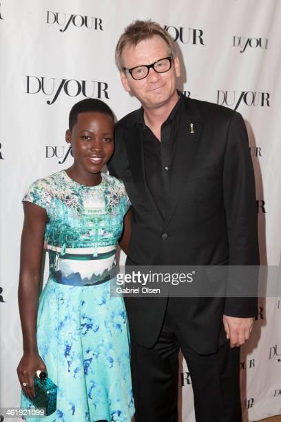 Lupita Nyong'o and Theo Kingma arrive for DuJour Magazine's Jason Binn with editors Nicole Vecchiarelli Keith Pollock as they celebrate The Great...
