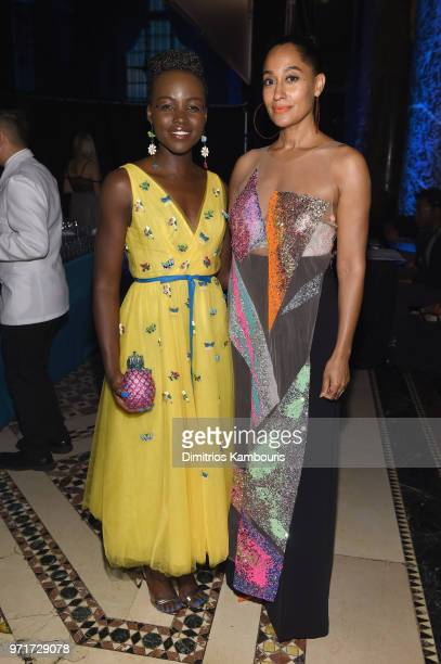 Lupita Nyong'o and Tracee Ellis Ross attend the 22nd Annual Accessories Council ACE Awards at Cipriani 42nd Street on June 11 2018 in New York City