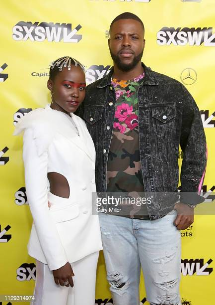"Lupita Nyong'o and Winston Duke attend the premiere of ""Us"" at the Paramount Theater during the 2019 SXSW Conference And Festival on March 8, 2019 in..."