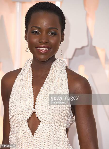Lupita Nyong'o arrives at the 87th Annual Academy Awards at Hollywood Highland Center on February 22 2015 in Hollywood California