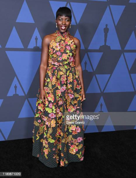 Lupita Nyong'o arrives at the Academy Of Motion Picture Arts And Sciences' 11th Annual Governors Awards at The Ray Dolby Ballroom at Hollywood &...