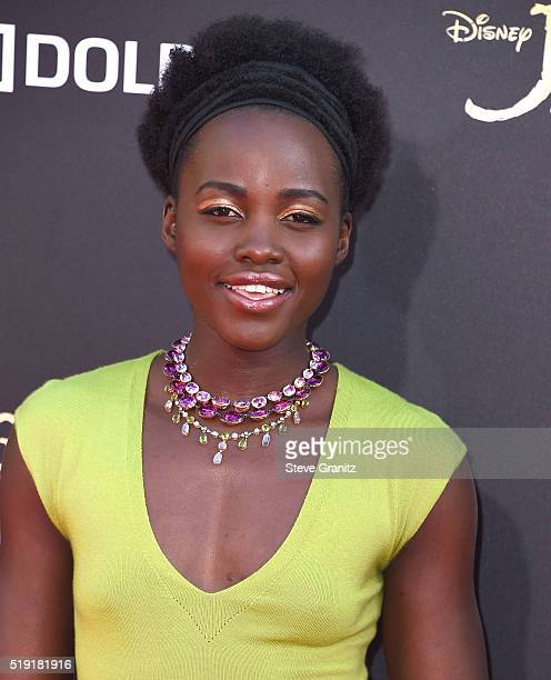 Lupita Nyong'o arrives at the Premiere Of Disney's The Jungle Book at the El Capitan Theatre on April 4 2016 in Hollywood California