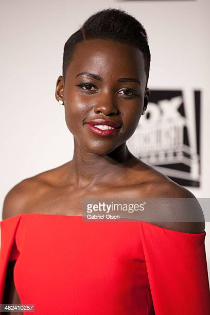 Lupita Nyong'o arrives for Fox And FX's 2014 Golden Globe Awards Party Arrivals on January 12 2014 in Beverly Hills California