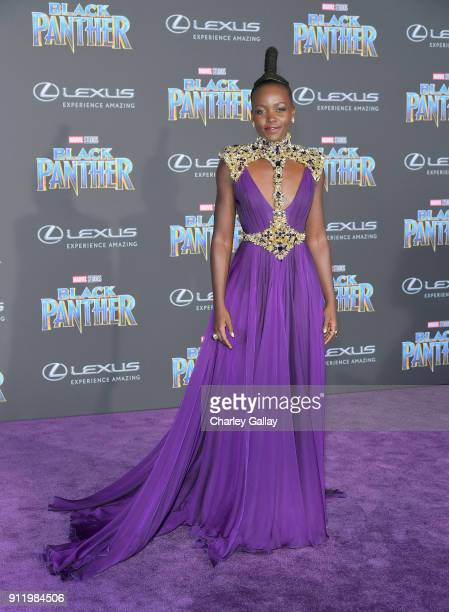 Lupita Nyong'o arrives for the World Premiere of Marvel Studios' Black Panther, presented by Lexus, at Dolby Theatre in Hollywood on January 29th.