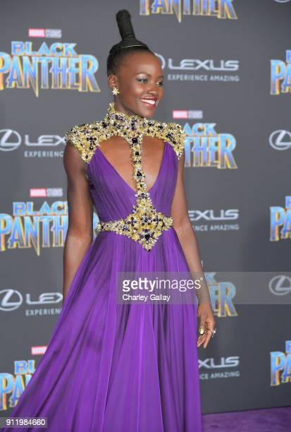 Lupita Nyong'o arrives for the World Premiere of Marvel Studios' Black Panther presented by Lexus at Dolby Theatre in Hollywood on January 29th