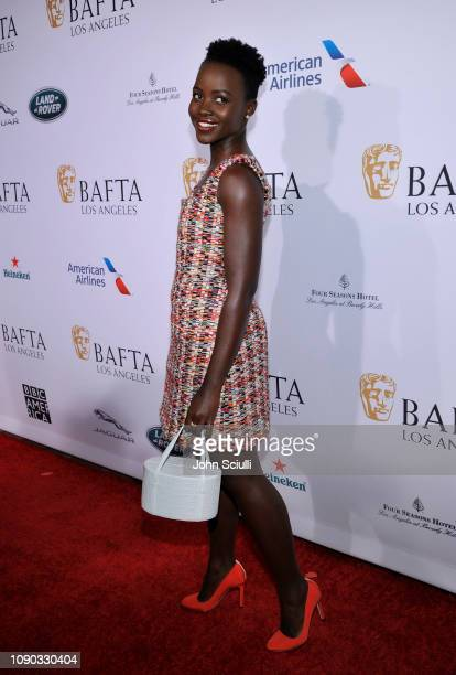Lupita Nyong'o arrives to the BAFTA Tea Party at The Four Seasons Hotel Los Angeles at Beverly Hills on January 05 2019 in Beverly Hills California
