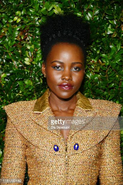 Lupita Nyong'o attends Chanel And Charles Finch PreOscar Awards Dinner At The Polo Lounge in Beverly Hills on February 23 2019 in Beverly Hills...