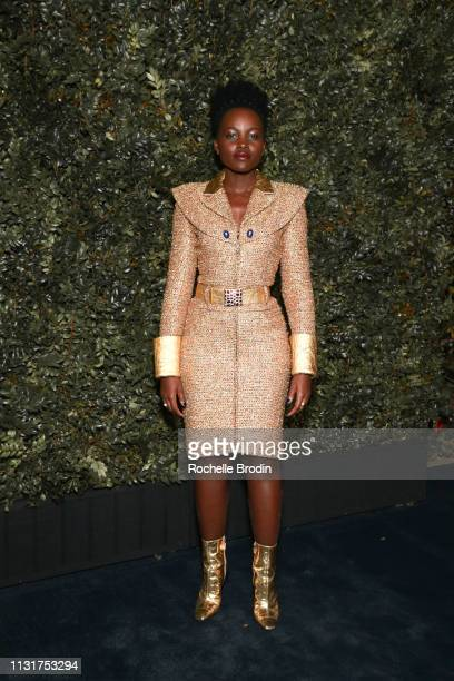 Lupita Nyong'o attends Charles Finch And CHANEL's 11th Annual Pre-Oscar Awards Dinner at Polo Lounge at The Beverly Hills Hotel on February 23, 2019...