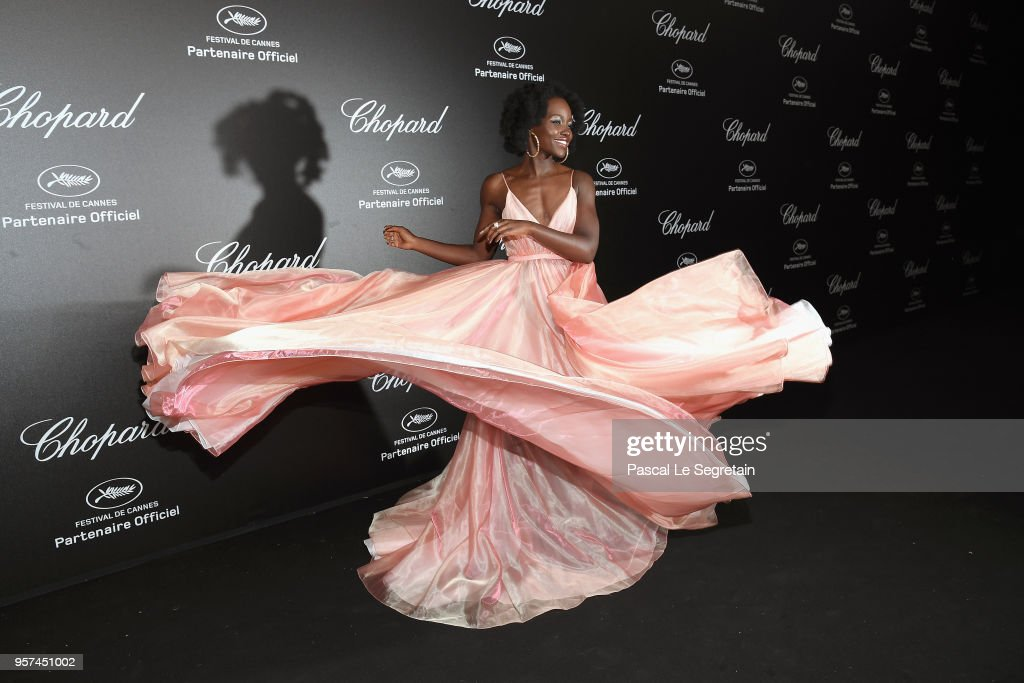 Lupita Nyong'o attends Chopard Secret Night during the 71st annual Cannes Film Festival at Chateau de la Croix des Gardes on May 11, 2018 in Cannes, France.